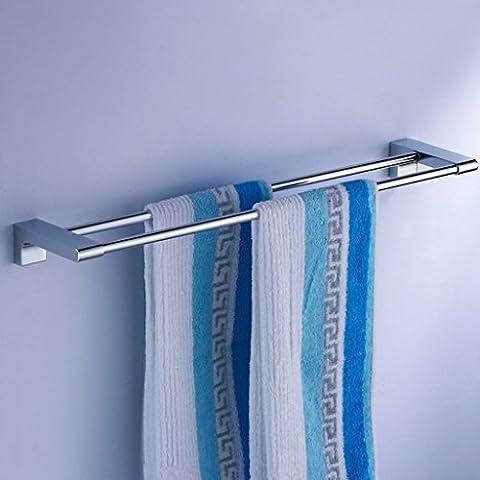 Cuarto de baño toalla del estante de poste de toalla del doble del estante de cobre baño pared cuelgan rack