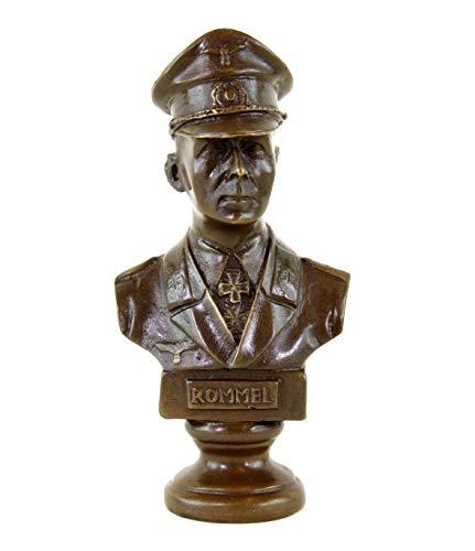 Kunst & Ambiente - Erwin Rommel Büste - Der Wüstenfuchs in Bronze - signiert - Lederer - 3. Reich Skulptur - Wohndeko Bronzefigur