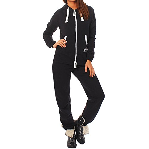finchgirl damen jumpsuit jogger jogging anzug trainingsanzug overall. Black Bedroom Furniture Sets. Home Design Ideas