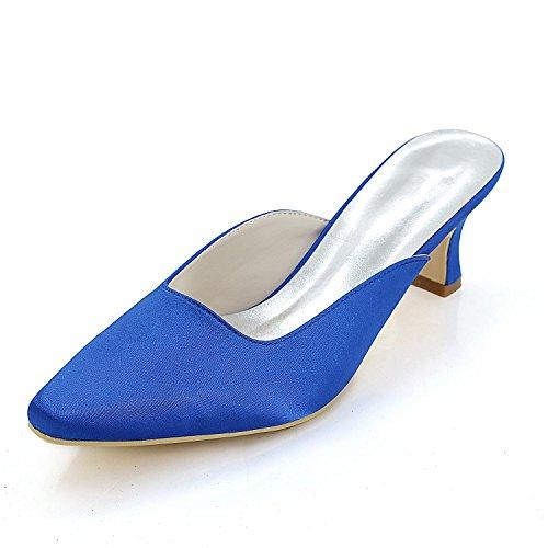 L @ yc Zapatillas Confortables Para Mujer, Cuadradas Con Puntaje Aleatorio / Tamaño Grande, Alto Perfil, Color Azul Personalizado Para Bodas