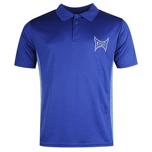 Tapout Poly maglietta polo da uomo blu top t-shirt tee, Blue, L