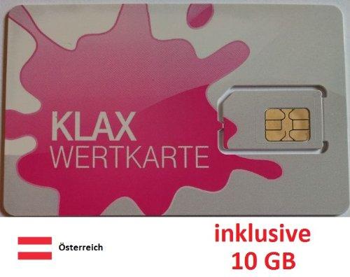 Prepaid Daten Sim Karte (mobiles Internet) für Österreich mit 10 GB Guthaben (Tmobile Sim Iphone 4)