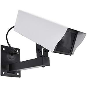 IDK Secure CAM-E24F Caméra factice extérieure LED Rouge clignotante Nuit/Jour