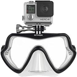 Octomask sans Cadre GoPro Masque pour plongée et plongée avec Tuba Fonctionne avec Hero2/Hero3/Hero3+ et Hero4Caméras Taille Unique Claire