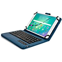 Asus ZenPad 8.0, S 8.0 Custodia con Tastiera, COOPER INFINITE EXECUTIVE Custodia a libro Per Il Trasporto di Tablet con Tastiera Bluetooth QWERTY Wireless Removibile con supporto (Blu)
