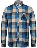 Tokyo Laundry - Camicie Casual - 'Stratford' - Scacchi, Quadretti - con Colletto - Manica Lunga - Uomo (Olympian Blu) L