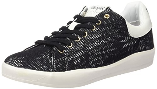 Wrangler - Wave Low Flower, Scarpe da ginnastica Donna Nero (Schwarz (357  Black / Tropical))