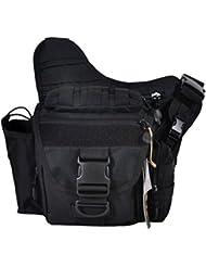 Gran cámara bolsa de sillín para hombres hombro Messenger, 3