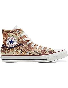 Converse All Star zapatos personalizadas Unisex (Producto Artesano) Autumn Texture