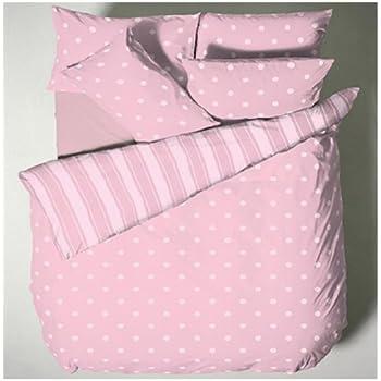 Catherine lansfield polka dot duvet cover set pink