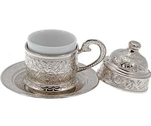 Tasse espresso caf turc cuivre avec insert porcelaine for Maison classique emporium
