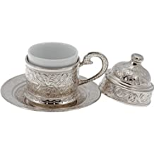 Turkish Coffee Cup Copper - Silver Colour