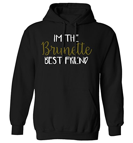 *Pullover Sweatshirt, Motiv: I'm The Brunette Best Friend, Größe XS-XXL Gr. Medium, schwarz*