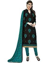 [Sponsored]Manmandir Cotton Silk Dress Material / Salwar Suit For Women (Manjulika-561_Black)