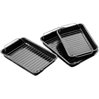 Premier Housewares Set di 3 teglie per arrosto antiaderenti con