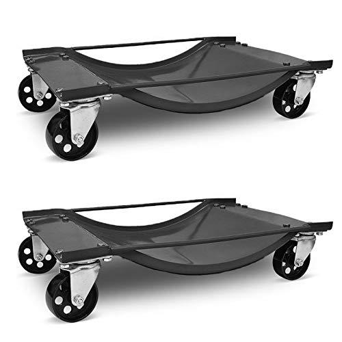UISEBRT 2 x Rangierhilfe Auto für PKW - Rangierroller Wagenheber Rangierwagenheber 900kg pro Paar