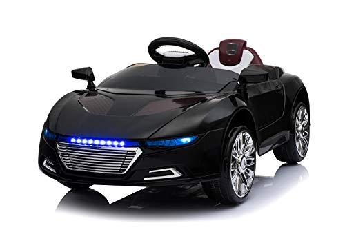 Toyas Kinder Elektro Auto Sportwagen Cabrio Kinderfahrzeug Akku RC LED Spyder Schwarz