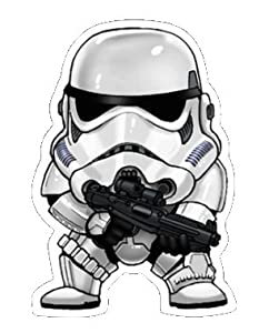 Star Wars Chibi Storm Trooper Sticker for Skateboards, Snowboards, Scooters, BMX, Mountain Bikes, Laptops, iPhone, iPod, Guitars etc