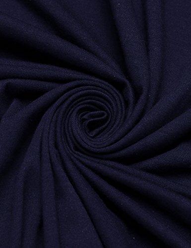 Coofandy Herren Rüschen Schalkragen ärmellose Jacke lange Strickjacke Weste Navyblau