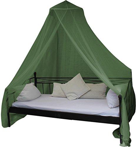 Mobiles Moskitonetz - Insektenschutz für In- und Outdoor - für Einzel- und Doppelbetten Farbe Oliv