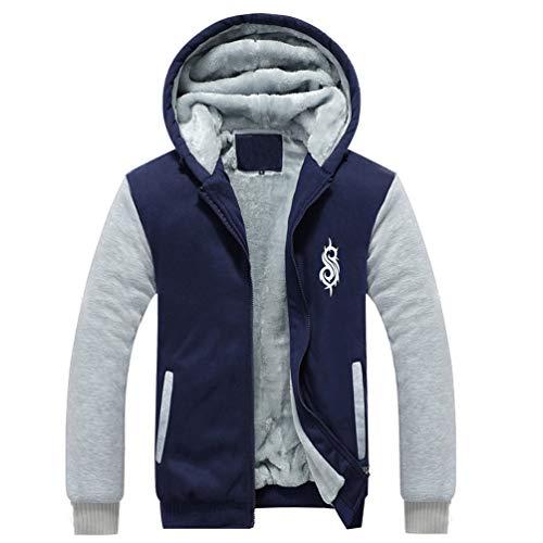 Slipknot Taylor Corey Kostüm - Corey Kapuzenpullover Taylor Cosplay Kostüm Herren Winter Mantel Erwachsene Sweatshirt Samt Jacke Fancy Dress Kleidung