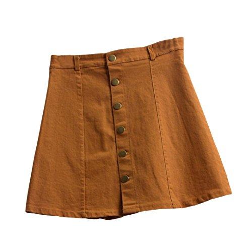 QUINTRA Women's Fashion Waist Skirt Korean Style Girls Cowboy Mini Denim Short Skirt