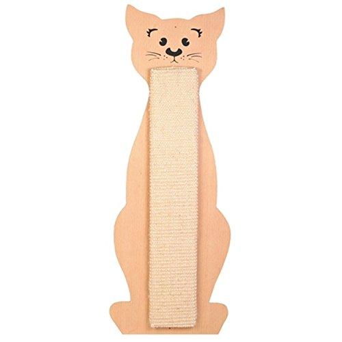 Kratzbrett Katzen-Kontur beige