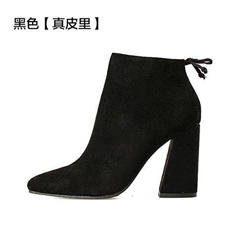 FLYRCX Stile Europeo e inverno inverno sharp tacco scarpe tacco, onorevoli scarpe con i tacchi alti A