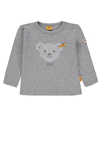 Steiff Steiff Unisex Baby T-Shirt 1/1 Arm, Grau (Softgrey Melange Gray 8200) 56