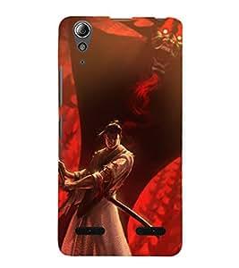 printtech Samurai Aku Cartoon Back Case Cover for Lenovo A6000 Plus / Lenovo A6000+