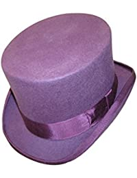 100% Wool Felt Top Hat High Quality Hand Made Feather Wedding Event Fancy Dress S-XXL
