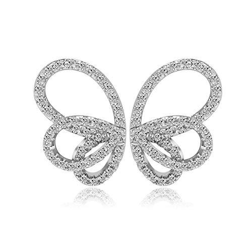 SDKOY Vergoldete Trendige Ohrstecker für Frauen - Butterfly Bone Design, intime geschmackvolle Geschenke für sie/Freundin/Frau, Exquisite Geschenkverpackung - Knochen Metall Spiegel