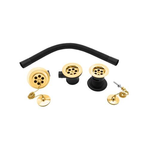Deva WST27/501Waschbecken und Badewanne Ablaufgarnitur Pack mit Gold Finish -