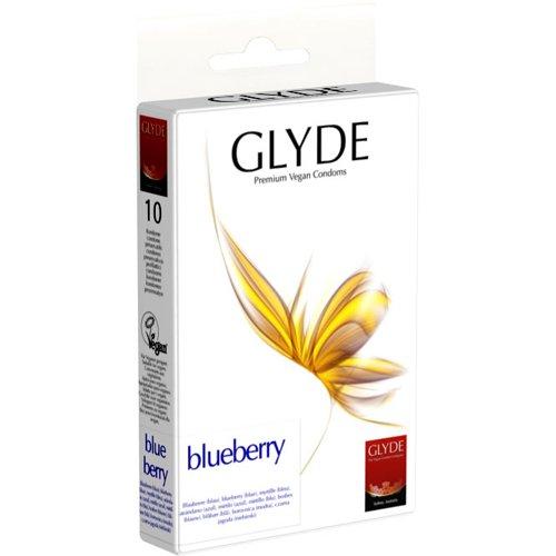 Glyde Ultra Blaubeere 10 blau Condome, Vegan