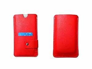 ATV Genuine Leather ORANGE Designer Pouch Case Cover For Sony Xperia tipo
