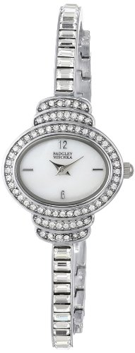badgley-mischka-womens-ba-1321wmsb-swarovski-crystal-accented-oval-silver-tone-thin-bracelet-watch