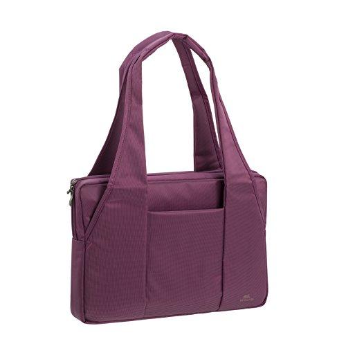 """RIVACASE Tasche für Laptops bis 15.6"""" – Schicke Notebooktasche mit viel Platz für Zubehör und Schutz durch gepolsterte Wände – Lila"""