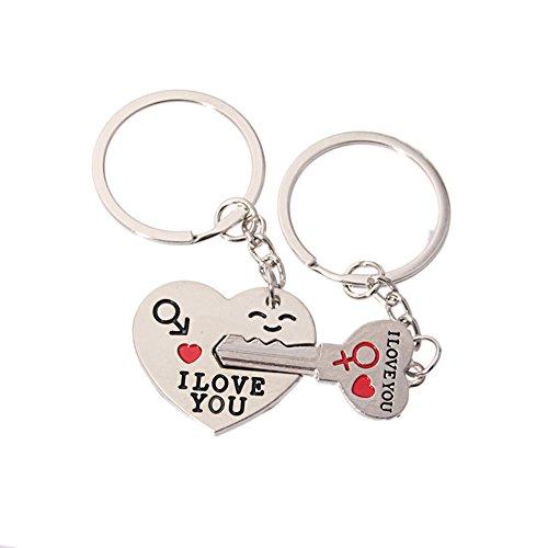 Missofsweet paio portachiavi portachiavi Love chiave al Mio Cuore Cute (Set di 2)