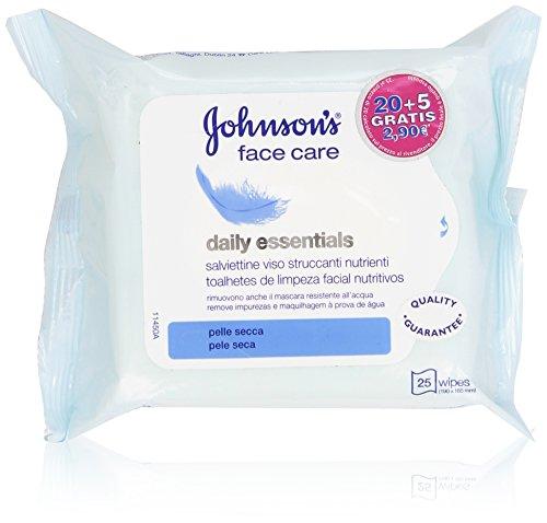 Johnson's - face care, Salviettine Viso Struccanti Nutrienti - 25 pezzi