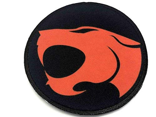 Thundercats Sublimated Moral Patch, Schwarz, 80mm Diameter