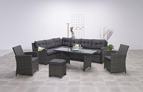 Hohe Dinning Poly Rattan Lounge Aboyne Inkl Zwei Sesseln Und