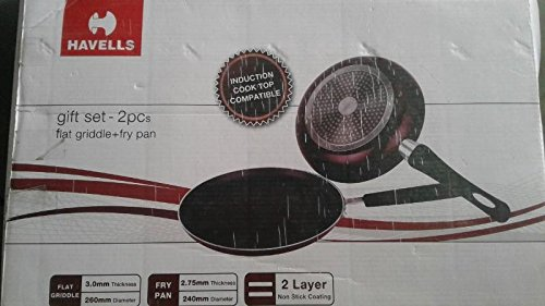 Havells Non Stick and Induction Base Gift Set(Flat Griddle and Fry pan)