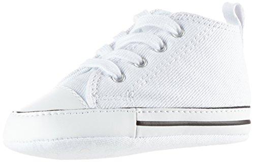 Converse Unisex Baby CT First Star-Hi-White-Crib Krabbel-& Hausschuhe, Weiß (White 100), 19 EU (Tennis-schuhe Schnürung)