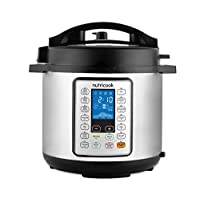 Nutricook Smart Pot Prime by Nutribullet 1200 Watts - 10 in 1 Instant Programmable Electric Pressure Cooker, 8 Liters, 16 Smart Programs, Brushed Stainless Steel/Black, 2 Years Warranty