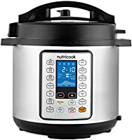 Nutricook Smart Pot Prime by Nutribullet 1200 Watts 10 in 1 Instant Programmable Electric Pressure Cooker, 8 Liters, 16...