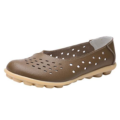 CixNy Damen Sandalen Flache Knöchel Schnalle Zehentrenner Flip Flop Sommerschuhe Leder Casual Elegant Breathable beiläufige Loch-Schuhe große Größe Erbsen-Schuhe