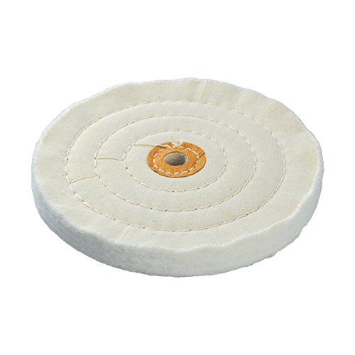 IVY Classic 39120 Spiral Stitched 4-Inch Cotton Muslin Buffing Wheel With 1/2-Inch Arbor, 1/Card by IVY Classic
