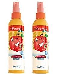 2x Avon Naturals enfants Spray démêlant–Amazing Apple Festive Edition Lot de 2