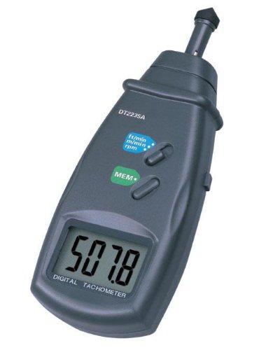 Pixtic DT2235A Digitaler Drehzahlmesser, Laser, 0,5?99.999 U/min