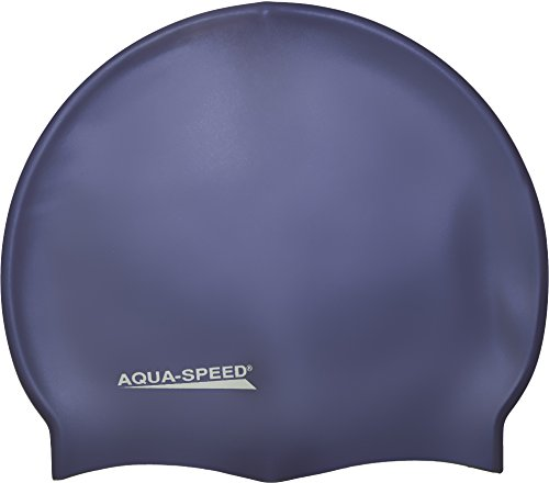 Aqua Speed MEGA Badekappe aus Super-Stretch-Silikon (Bademütze Badehaube Swimming Cap), Modell:Mega 17